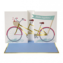 Tarjeta better together bicicleta