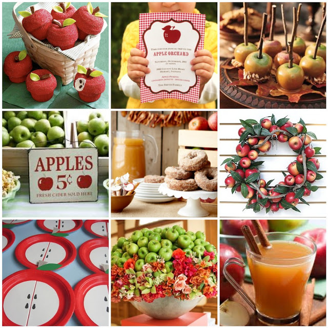 collage manzanas fiesta decoracion fiestas