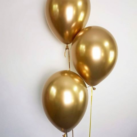 Pack globos chrome gold