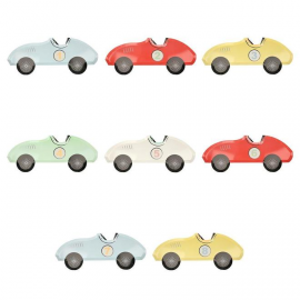 Pack 8 platos grandes coches