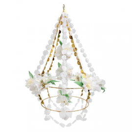 Chandelier White Blossom