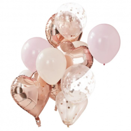 Pack globos Rose Gold