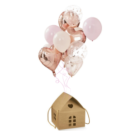Globos Rose Gold Casita